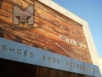 Store Front Display - Custom Signage - Waterjet Cut for SWAY by MILCO Waterjet