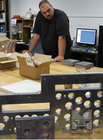 Working away at MILCO - Jorge Viera Lead Programmer toils endlessly programming a die for a large stamping operation